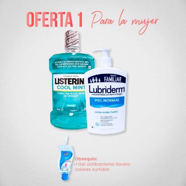 Oferta 1 Listerine y Lubriderm para la mujer