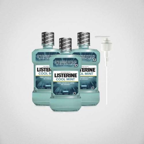 Oferta Listerine Coolmint 1.5 lt x 3 + valvula