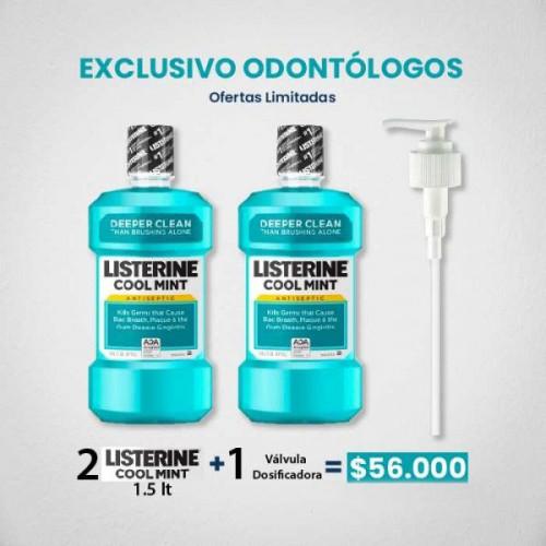 Listerine Coolmint 1.5lt + Valvula