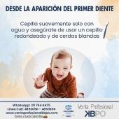 Desde la aparición del primer diente cepilla suavemente solo con agua y asegúrate de usar un cepillo redondeado y de cerdas blandas 👶 . INFORMACIÓN DE CONTACTO: . 🖥Pagina web ventas: http://www.ventaprofesionalkbpo.com/ 📱Whatsapp: +57 311 7646475 📧Correo: ventas@ventaprofesionalkbpo.com . #bebes #odotologoscolombianos #familia #quedatencasa #cali #colombia #bogota #medellin #saludoral #cremas #cepillos #sedas #enjuagues #bioseguridad #dientes #boca #higieneoral #saluddental #hiegienedental #coronavirus #COVID19