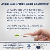 ¿Por qué debes cepillarte después de cada comida? . INFORMACIÓN DE CONTACTO: . 🖥Pagina web ventas: http://www.ventaprofesionalkbpo.com/ 📱Whatsapp: +57 311 7646475 📧Correo: ventas@ventaprofesionalkbpo.com . #odotologoscolombianos #familia #quedatencasa #cali #colombia #bogota #medellin #saludoral #cremas #cepillos #sedas #enjuagues #bioseguridad #dientes #boca #higieneoral #saluddental #hiegienedental #coronavirus #COVID19