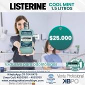 Listerine Cool Mint 1.5 Litros . Link venta Listerine pagina web: https://www.ventaprofesionalkbpo.com/enjuagues/92-listerine-coolmint-15-lt.html . ☝🏻 Recuerda que puedes hacer las compras a través de nuestra web, envíos a todo Colombia 💁🇦🇲 conoce todos los productos disponibles que tenemos para ti 📣 📣 llámanos📞 o escríbenos al WhatsApp📱. . INFORMACIÓN DE CONTACTO: . 🖥Pagina web ventas: http://www.ventaprofesionalkbpo.com/ 📱Whatsapp: +57 311 7646475 📱Linea Cali: 4853050-4853030 📧Correo: ventas@ventaprofesionalkbpo.com . #odontologoscolombianos #familia #blog #quedatencasa #cali #colombia #bogota #medellin #saludoral #cremas #cepillos #sedas #enjuagues #bioseguridad #dientes #boca #higieneoral #saluddental #hiegienedental #coronavirus #COVID19