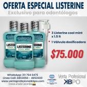Oferta Listerine Coolmint 1.5 lt x 3 + valvula . Link pagina web: https://www.ventaprofesionalkbpo.com/enjuagues/208-oferta-listerine-coolmint-15-lt-x-3-valvula.html . INFORMACIÓN DE CONTACTO: . 🖥Pagina web ventas: http://www.ventaprofesionalkbpo.com/ 📱Whatsapp: +57 311 7646475 📧Correo: ventas@ventaprofesionalkbpo.com . #odotologoscolombianos #familia #quedatencasa #cali #colombia #bogota #medellin #saludoral #cremas #cepillos #sedas #enjuagues #bioseguridad #dientes #boca #higieneoral #saluddental #hiegienedental #coronavirus #COVID19