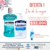 Oferta 1 Día de la mujer - Listerine y Lubriderm . Link pagina web: https://www.ventaprofesionalkbpo.com/enjuagues/196-oferta-1-listerine-y-lubriderm-dia-de-la-mujer.html . INFORMACIÓN DE CONTACTO: . 🖥Pagina web ventas: http://www.ventaprofesionalkbpo.com/ 📱Whatsapp: +57 311 7646475 📧Correo: ventas@ventaprofesionalkbpo.com . #díadelamujer #diadelamujer #odotologoscolombianos #familia #quedatencasa #cali #colombia #bogota #medellin #saludoral #cremas #cepillos #sedas #enjuagues #bioseguridad #dientes #boca #higieneoral #saluddental #hiegienedental #coronavirus #COVID19